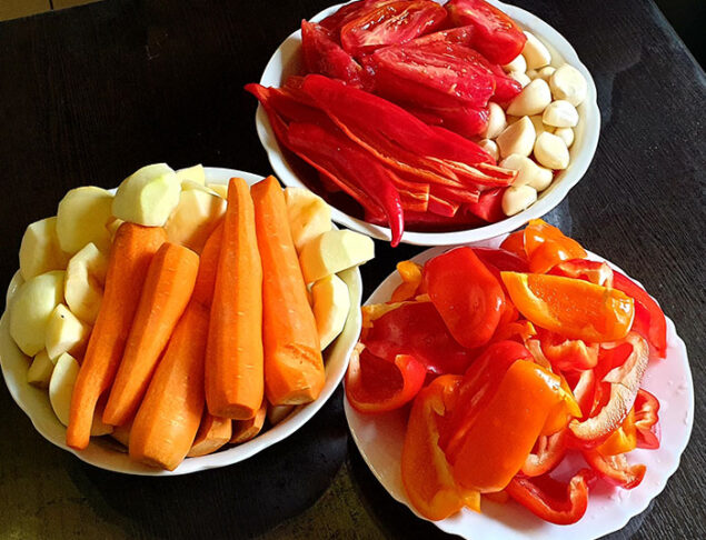 очищаем овощи
