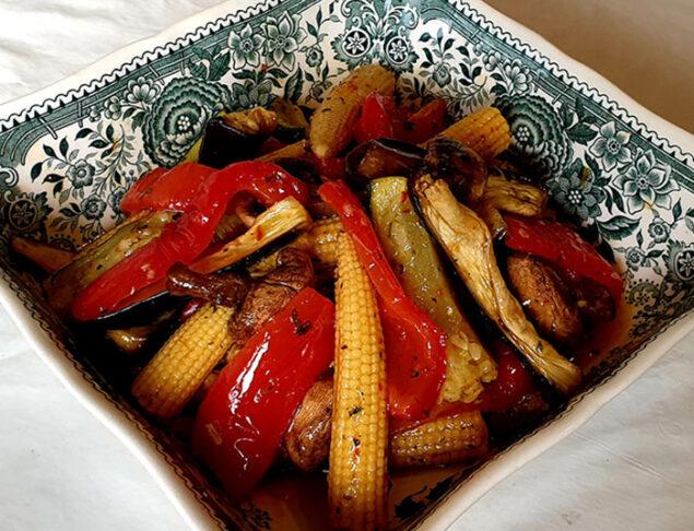 салат из запечённых овощей