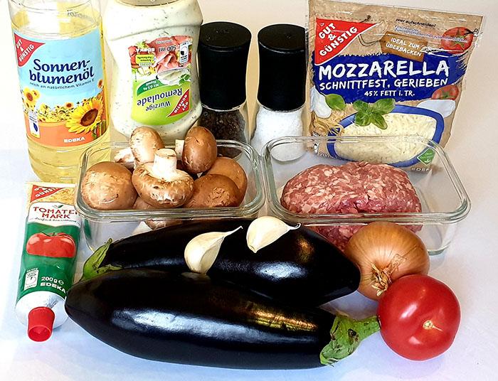 ингредиенты для баклажанов
