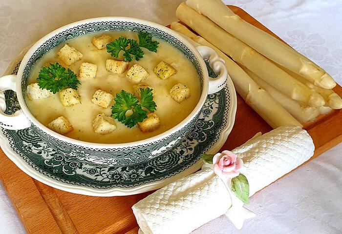 суп со спаржи
