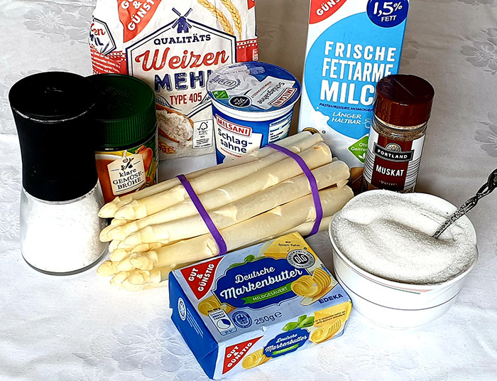 ингредиенты для супа со спаржей