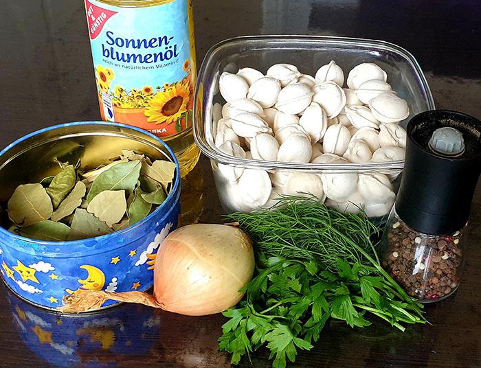 ингредиенты для пельменей в горшочке