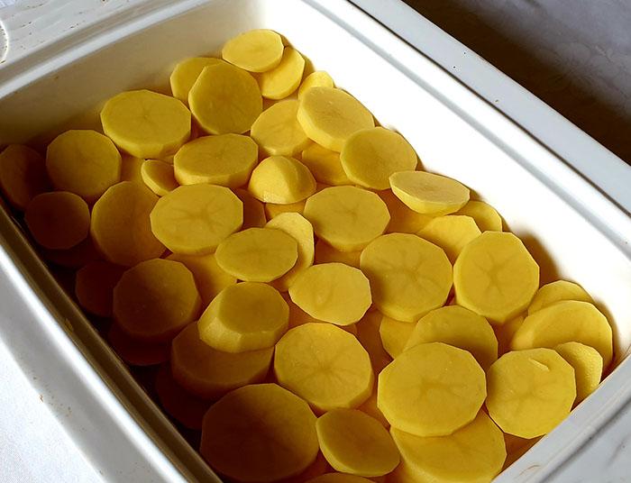 картофель шайбами