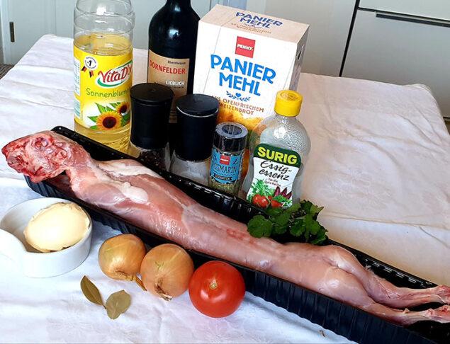 ингредиенты для кролика в вине
