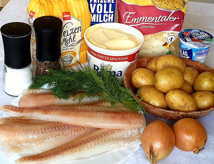 ингредиенты для рыбы