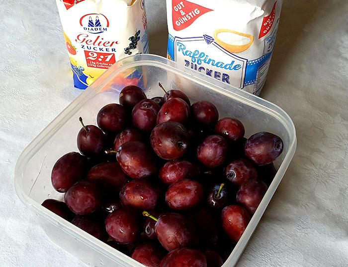 ингредиенты для сливового джема