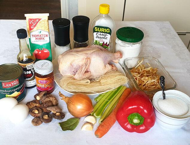 ингредиенты для пекинского супа